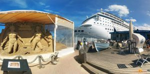 Kreuzfahrtschiffe gucken am Passagierkai Warnemünde