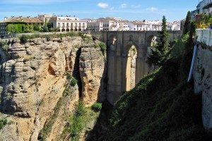 Die historische Brücke Puente Nuevo in Ronda - © Bildpixel / pixelio (rkn)
