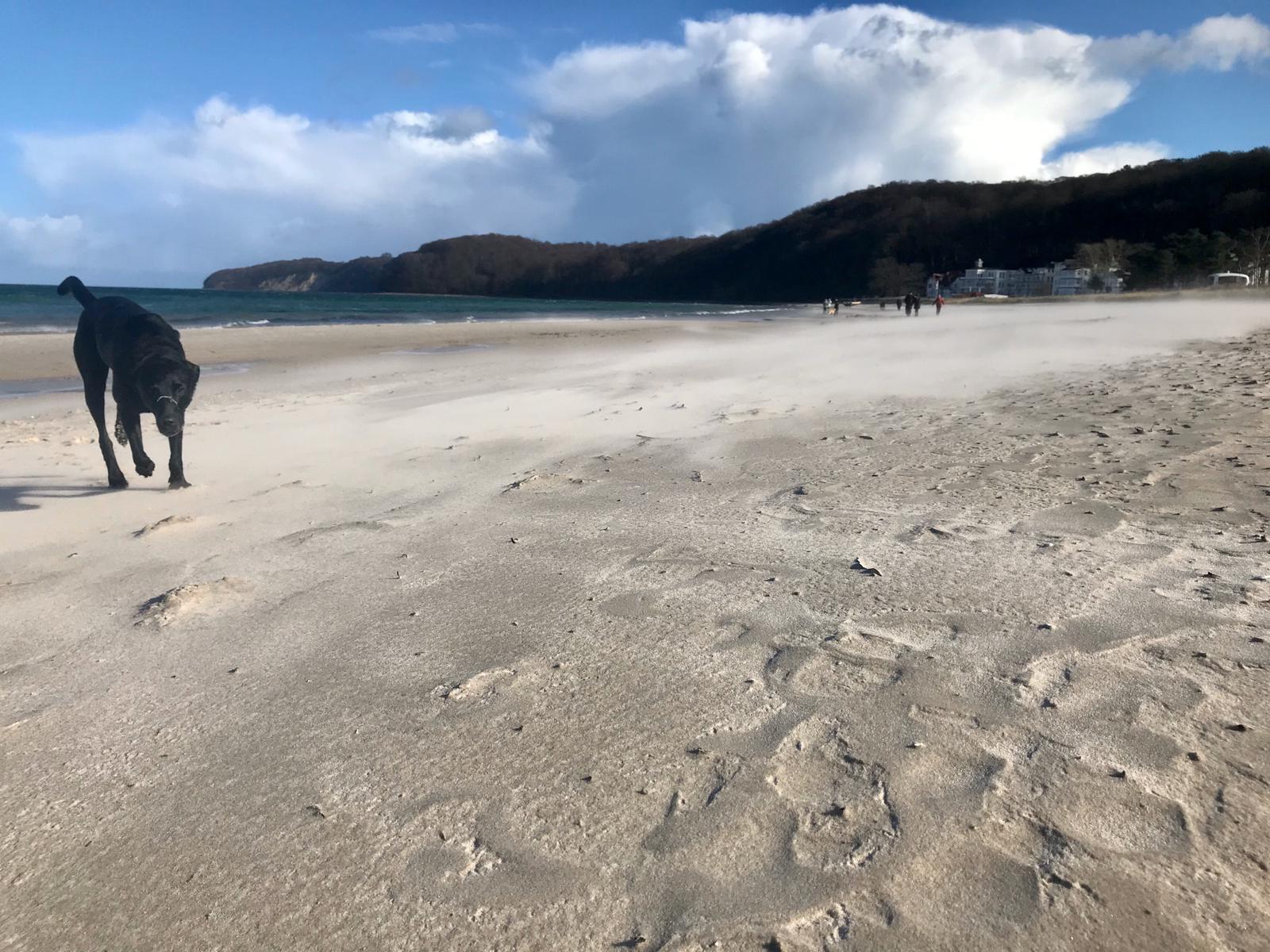 Rügen Strandspaziergang in der Nebensaison