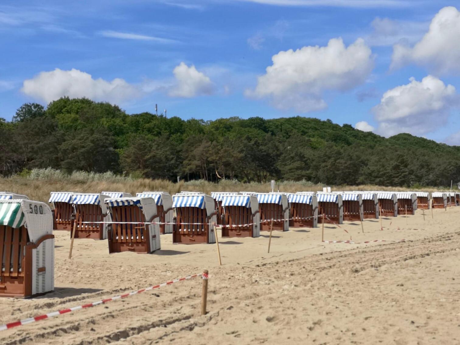 Strandkorbplatzierung auf Rügen