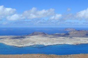Die kleine kanarische Insel La Graciosa