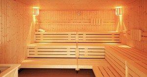 Wellness in der Sauna im Haus Meeresblick in Baabe auf Rügen