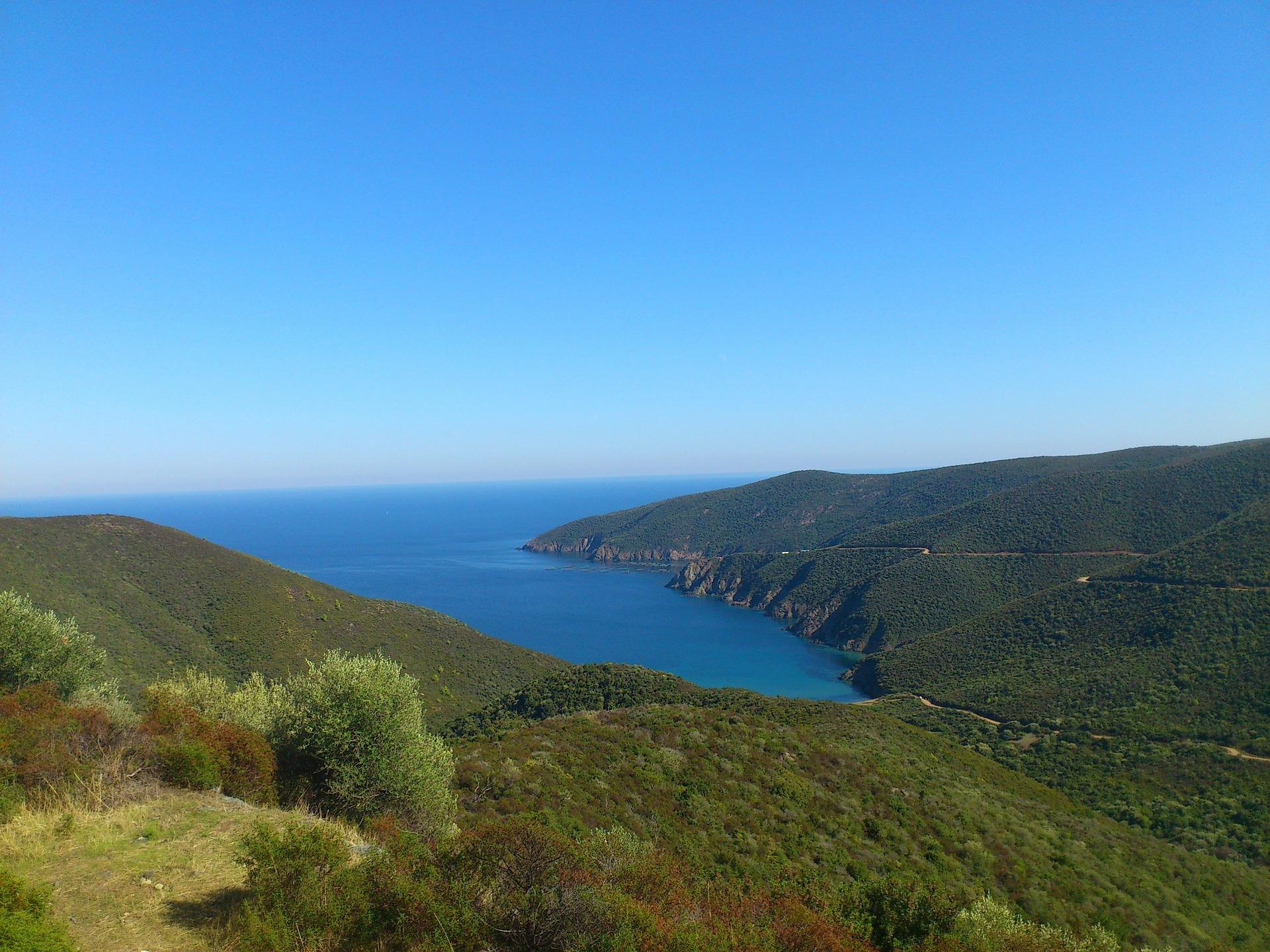 Chalkidiki Meer und Berge