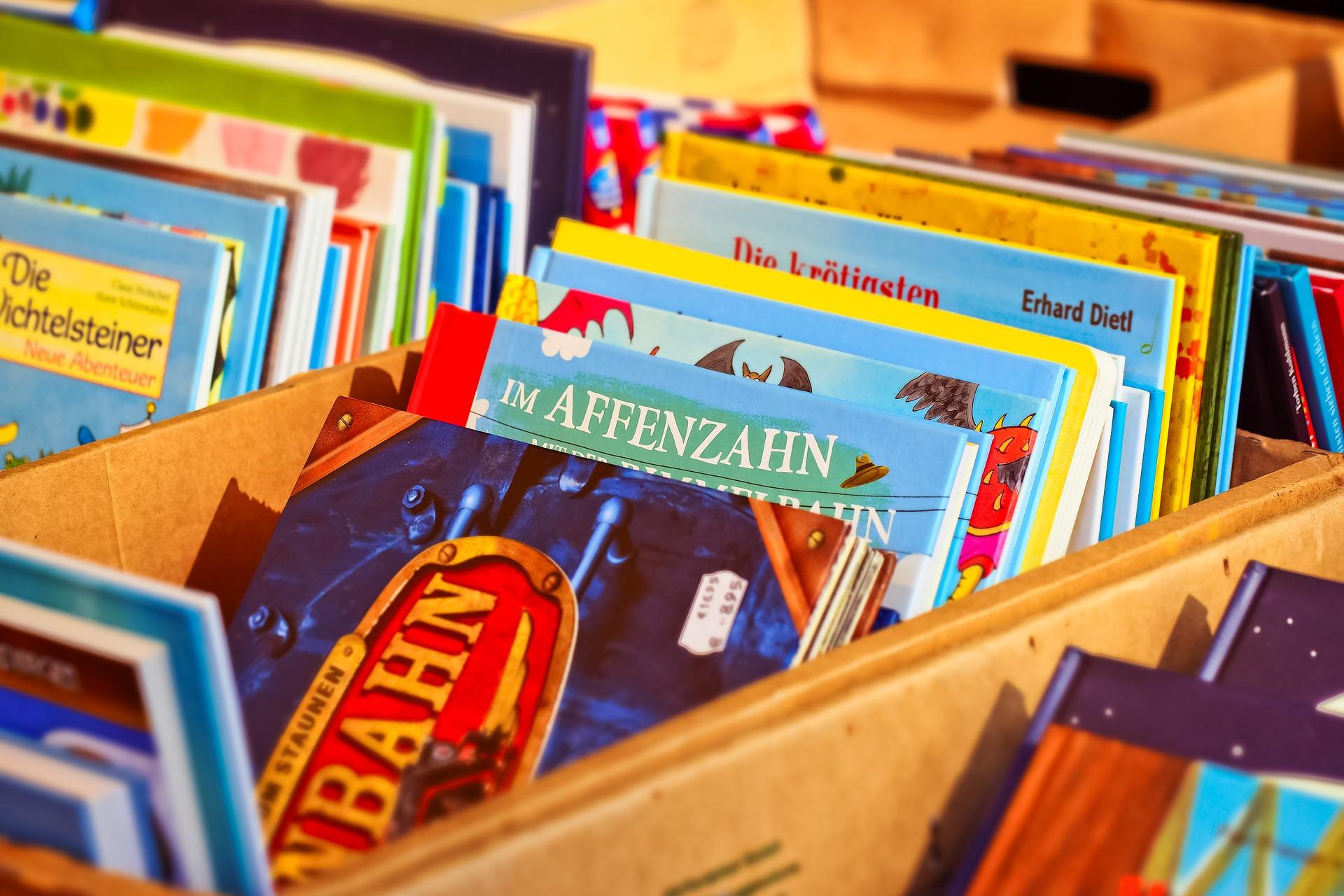 Comics und Kinderbücher mitnehmen