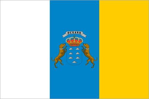 Die offizielle Flagge der Kanarischen Inseln