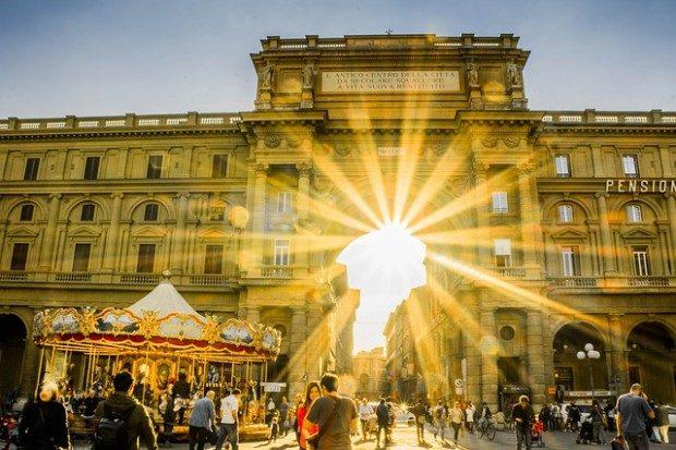 Florenz - Piazza della Repubblica © Pixabay, CC0
