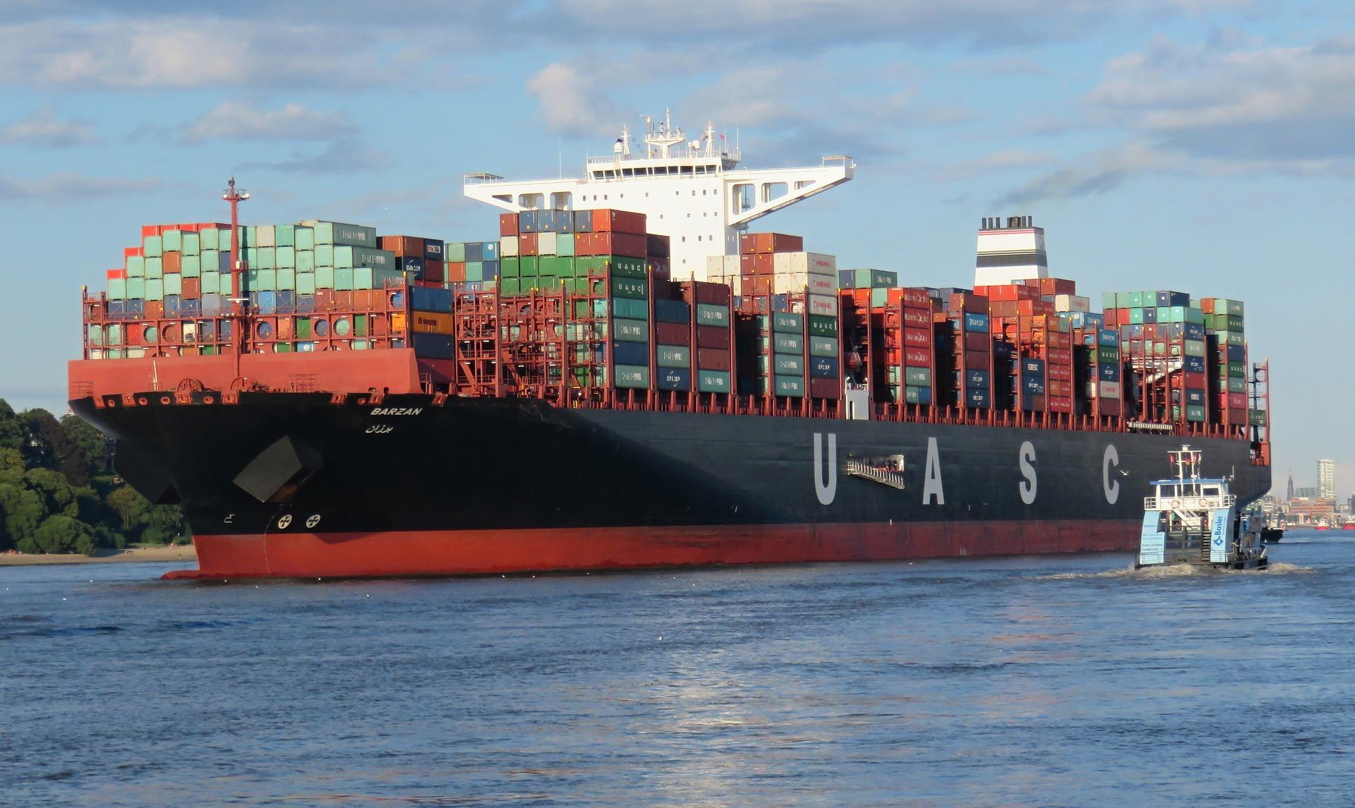 Hafen Hamburg Containerschiff