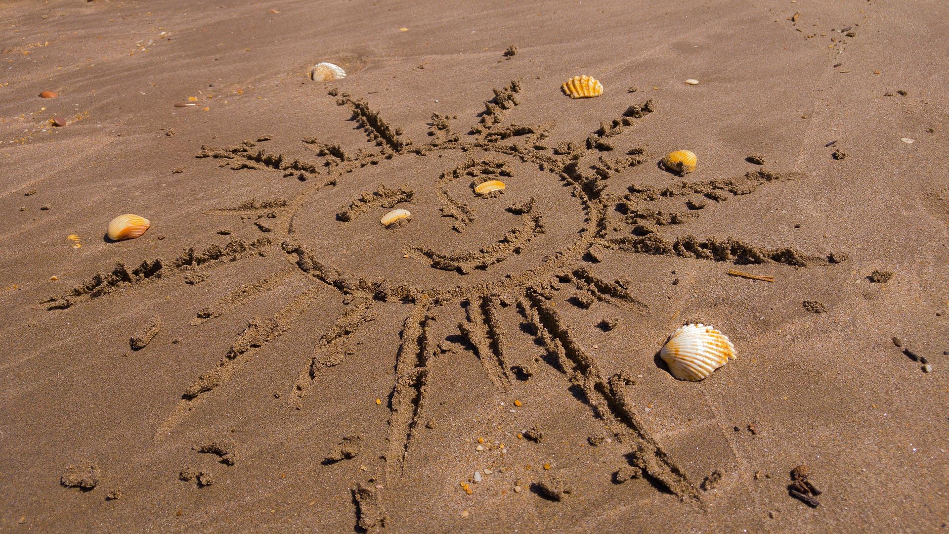 Kreative Beach-Dart Zielscheibe