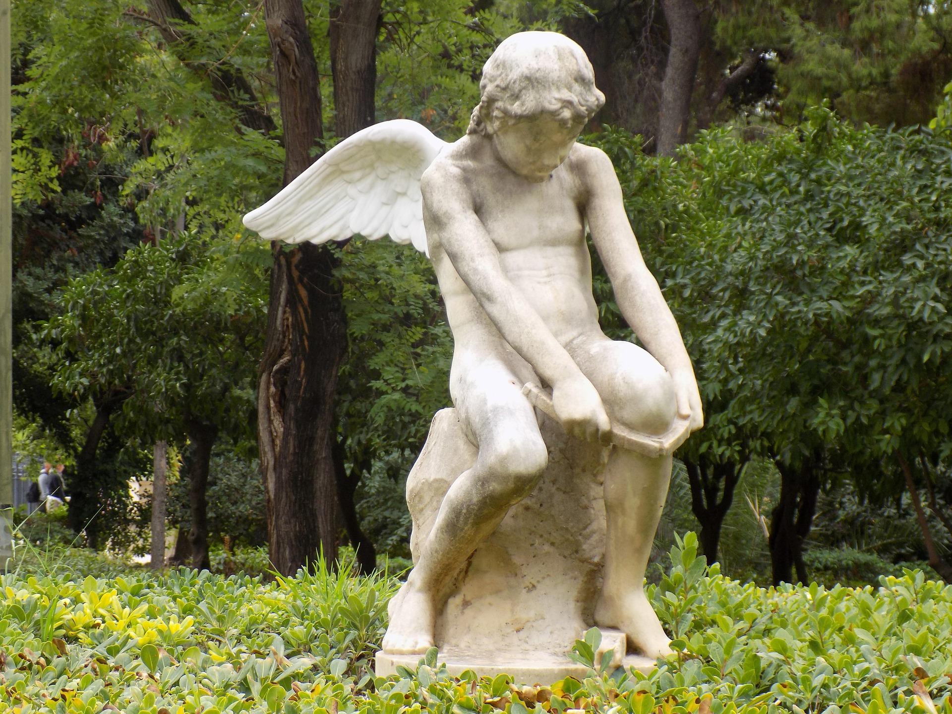 Statue im Nationalgarten Athen