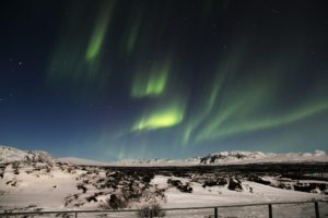 Nordlicht in Reykjavik