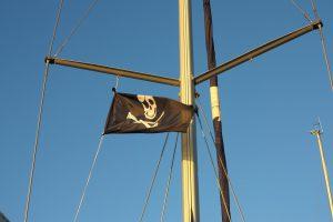 Die Piratenflagge wird wieder gehisst // Bild: Pixabay (CC0)