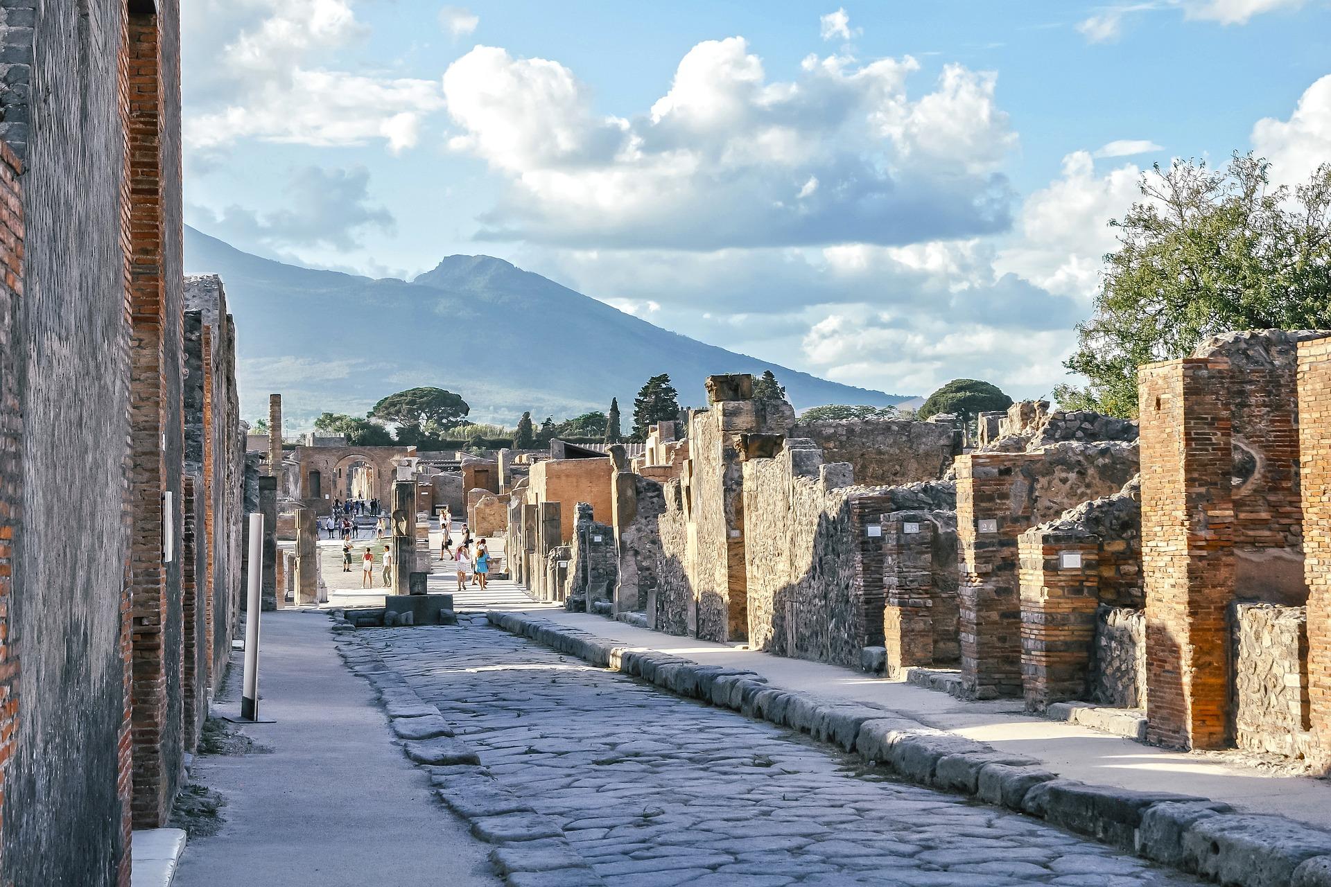 Pompeji, Vesuv