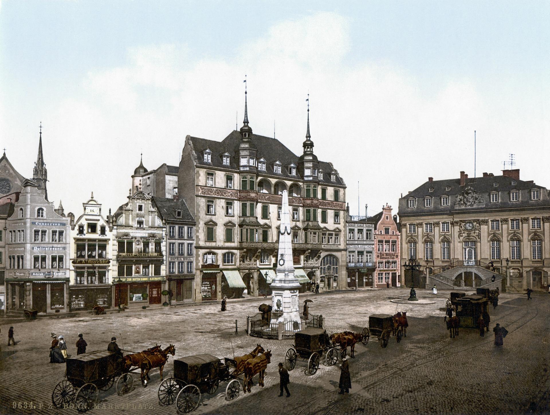 Rathaus Bonn um 1900