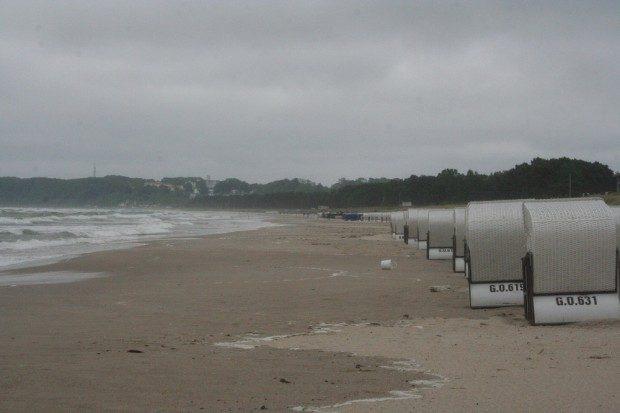 Rügener Strand im Regen