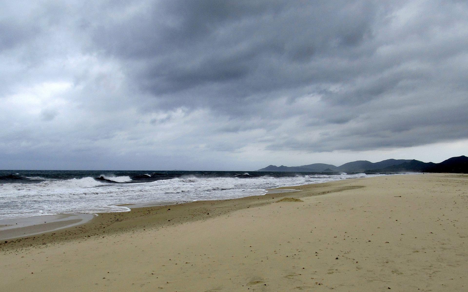 Costa Rei bei stürmischem Wetter