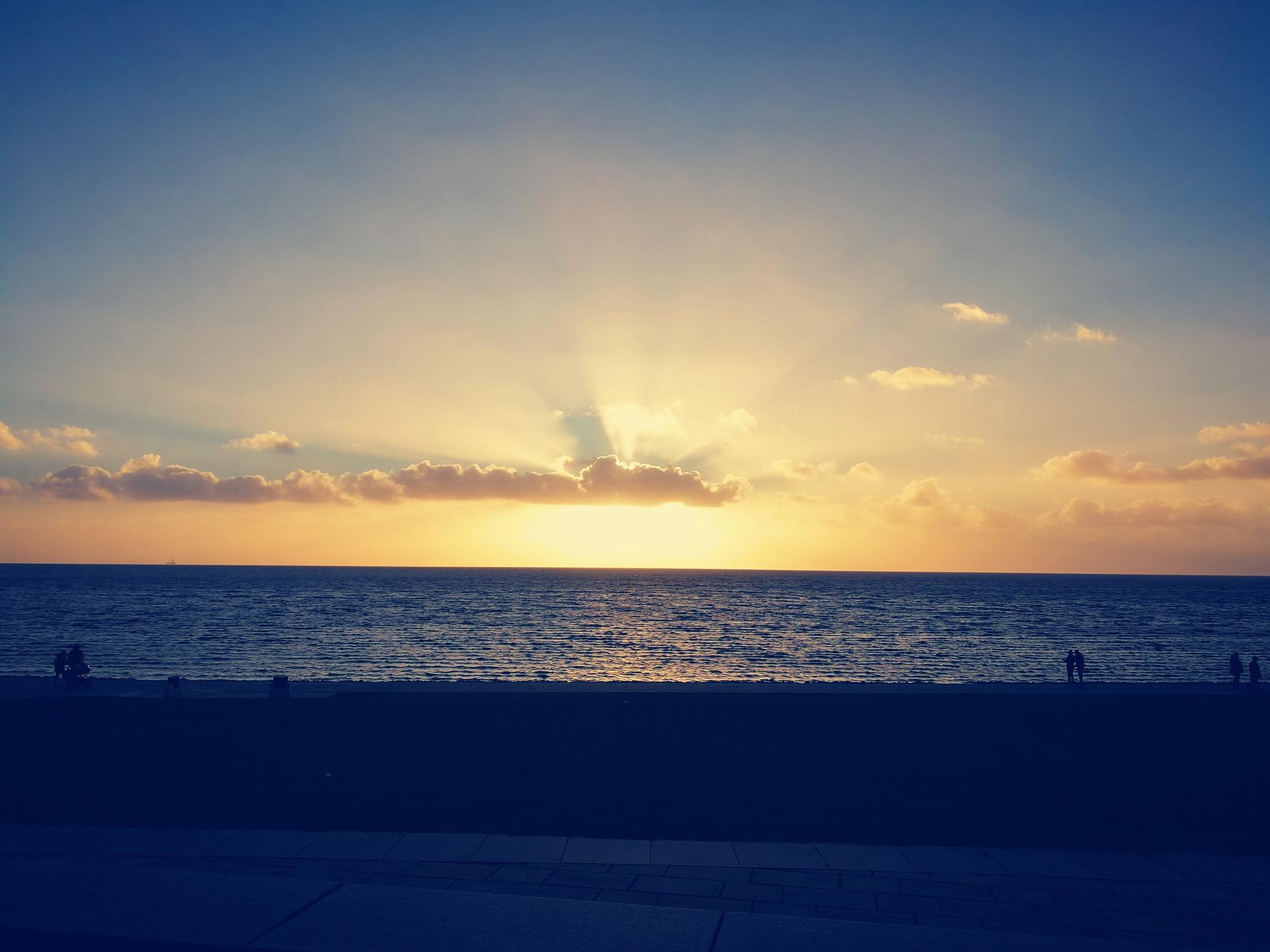 Sonnenuntergang Perlebucht Büsum