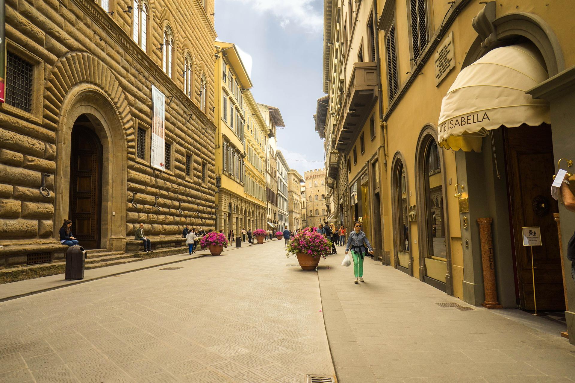 Straßenleben in Florenz