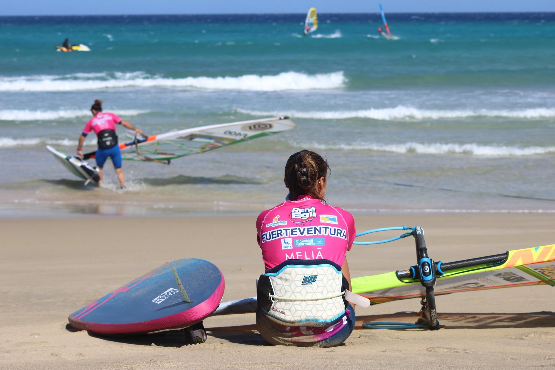 surfen auf Fuerteventura, Kanarische Inseln