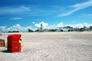 Breiter Strand von Warnemünde